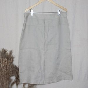Linen Zip-up Skirt